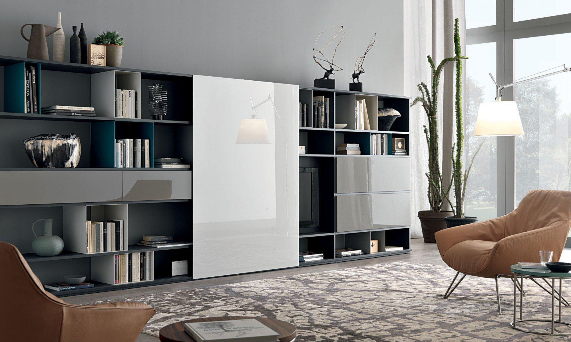 Zona giorno soggiorno moderno mobili soggiorno moderni - Mobili soggiorno lissone ...